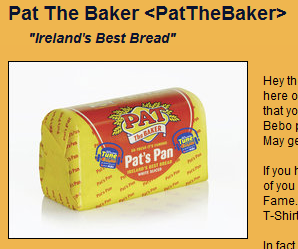 Pat the Baker on Bebo