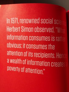 Information consumes attention